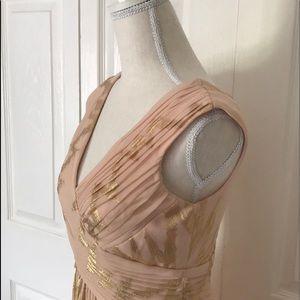 Signature by Sangria Dresses - Sangria Rose Gold Maxi Dress